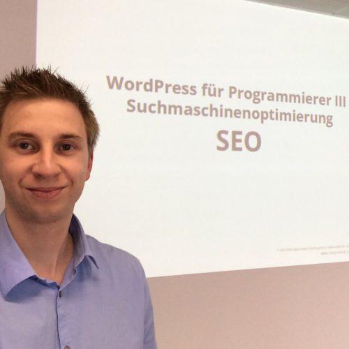 Felix in Salzburg für einen WordPress SEO Kurs